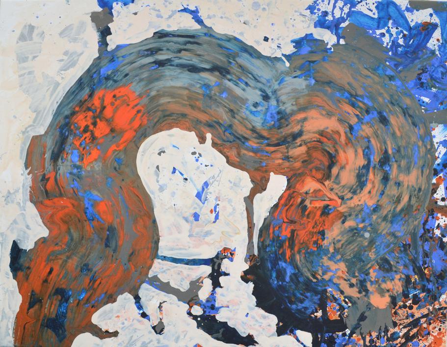 Orangeblå bugt